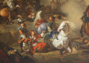 Claverhouse saves William of Orange at the Battle of Seneffe