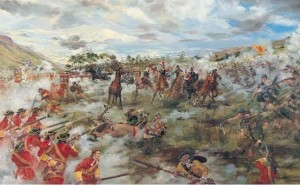 Claverhouse's victory at the Battle of Killiecrankie, July 1689.