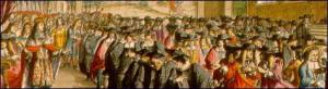 De Hooghe's image of William III addressing the convention 'Parliament'