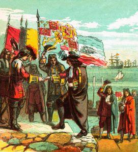 William lands at Torbay