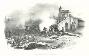 Oglethorp's dragoons storm the bridge
