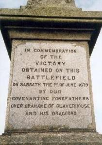 The Inscription on the Monument at Drumclog