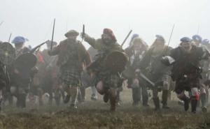 The highland charge which swept General MacKay's line away