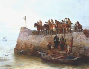 James VII & II flees to France (December 1688), abandoning all behind him