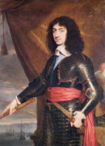 Charles ll, restored to the throne in 1660