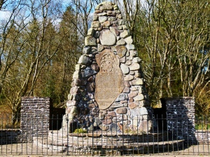 The monument at the site of the battle
