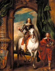A typical Van Dyck heroic  portrait of Charles I