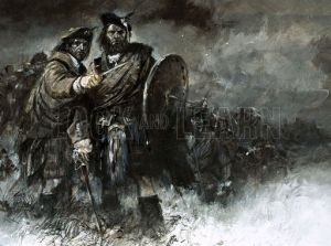 The morning of the Battle of Culloden...exhausted after the failed night attack...awaiting orders that would never come..