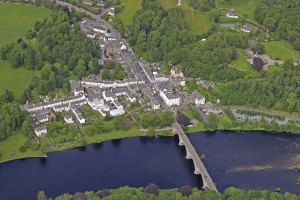 An aeriel view of Dunkeld today. Largely unchamged since the battle was fought there.