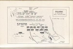 The best of the many maps of the Battle of Falkirk, From Katherine Tomasson's seminal biography of Lord George Murray