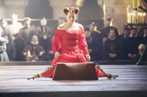 Mary, Queen of Scots at her execution in 1587.